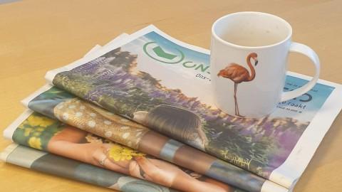 Kralen maken van de Ons Wolderwijd krant?
