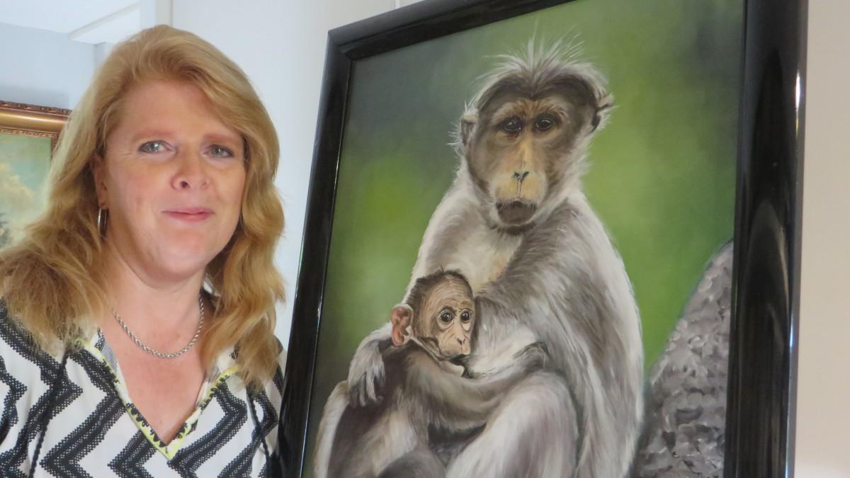 Monica Stam exposeert in het gemeentehuis